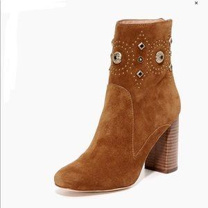 Sigerson Morrison Sheyla tan suede boots size 7.5